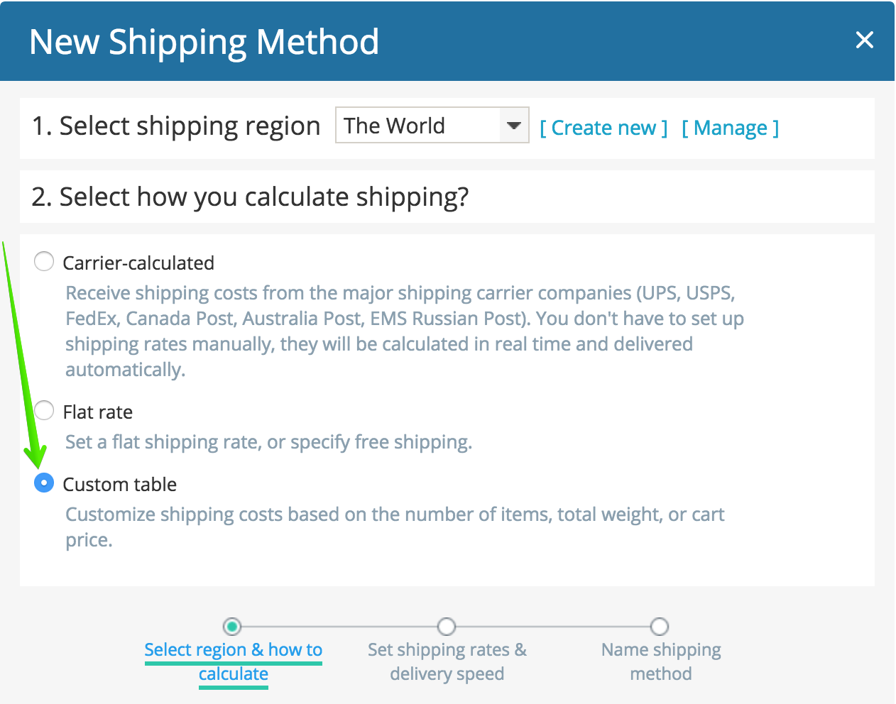 Setting up shipping (old) – Online Store