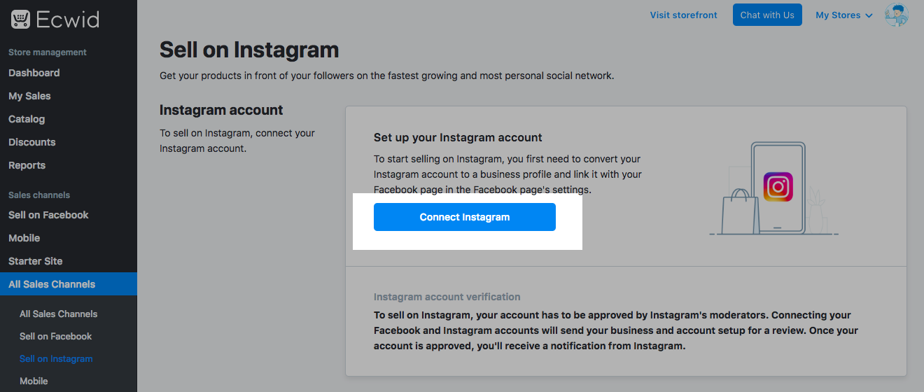 Sync your Facebook shop with Instagram account