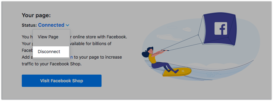 Disconnect your store from Facebook